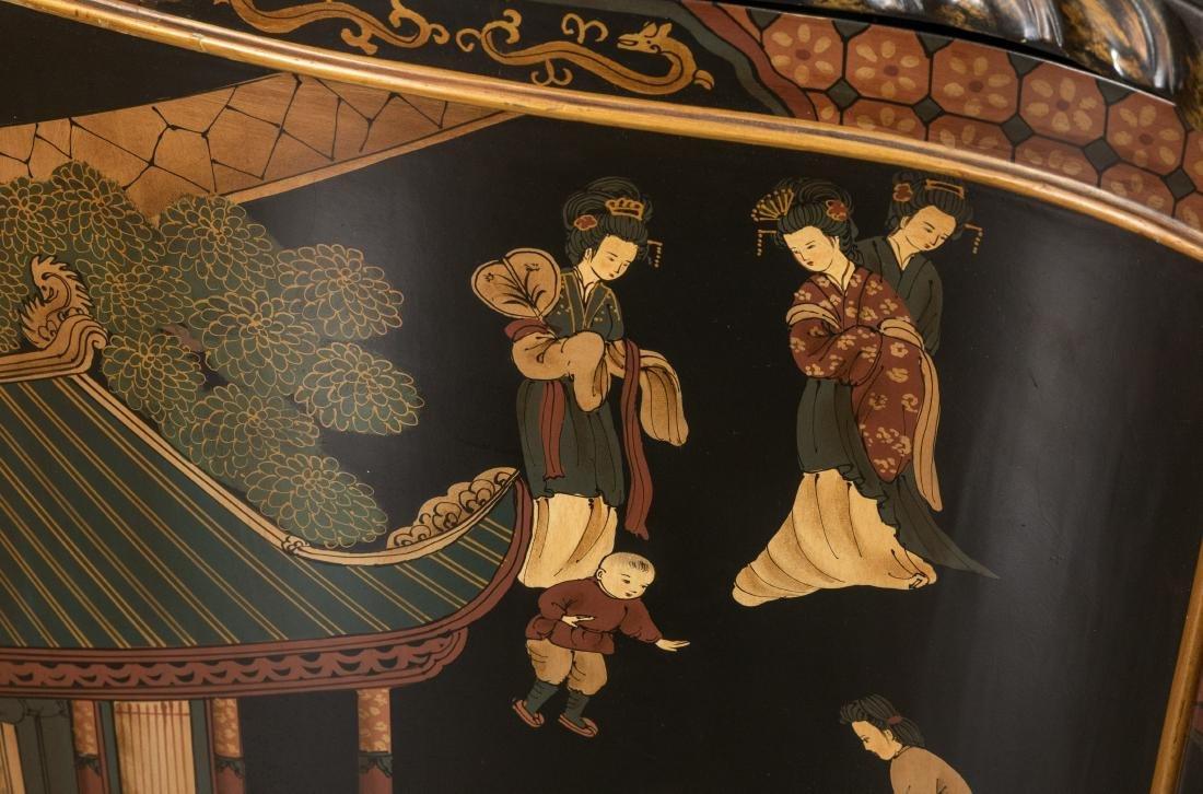 Painted Oriental Motif Server - 3