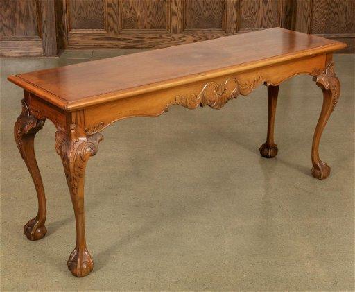 Wondrous Claw Foot Sofa Table Theyellowbook Wood Chair Design Ideas Theyellowbookinfo