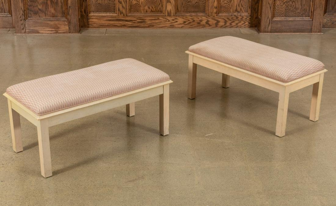 Pair Cerused Benches