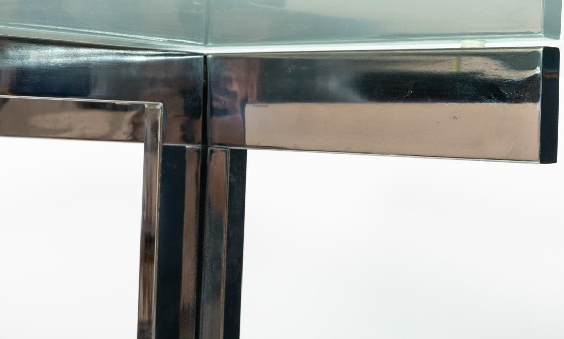 Chrome and Glass Dining Table - 2