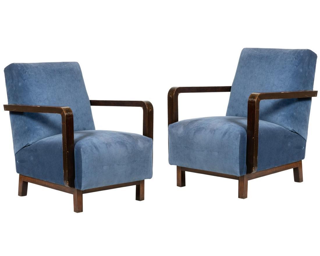 Danish Arm Lounge Chairs