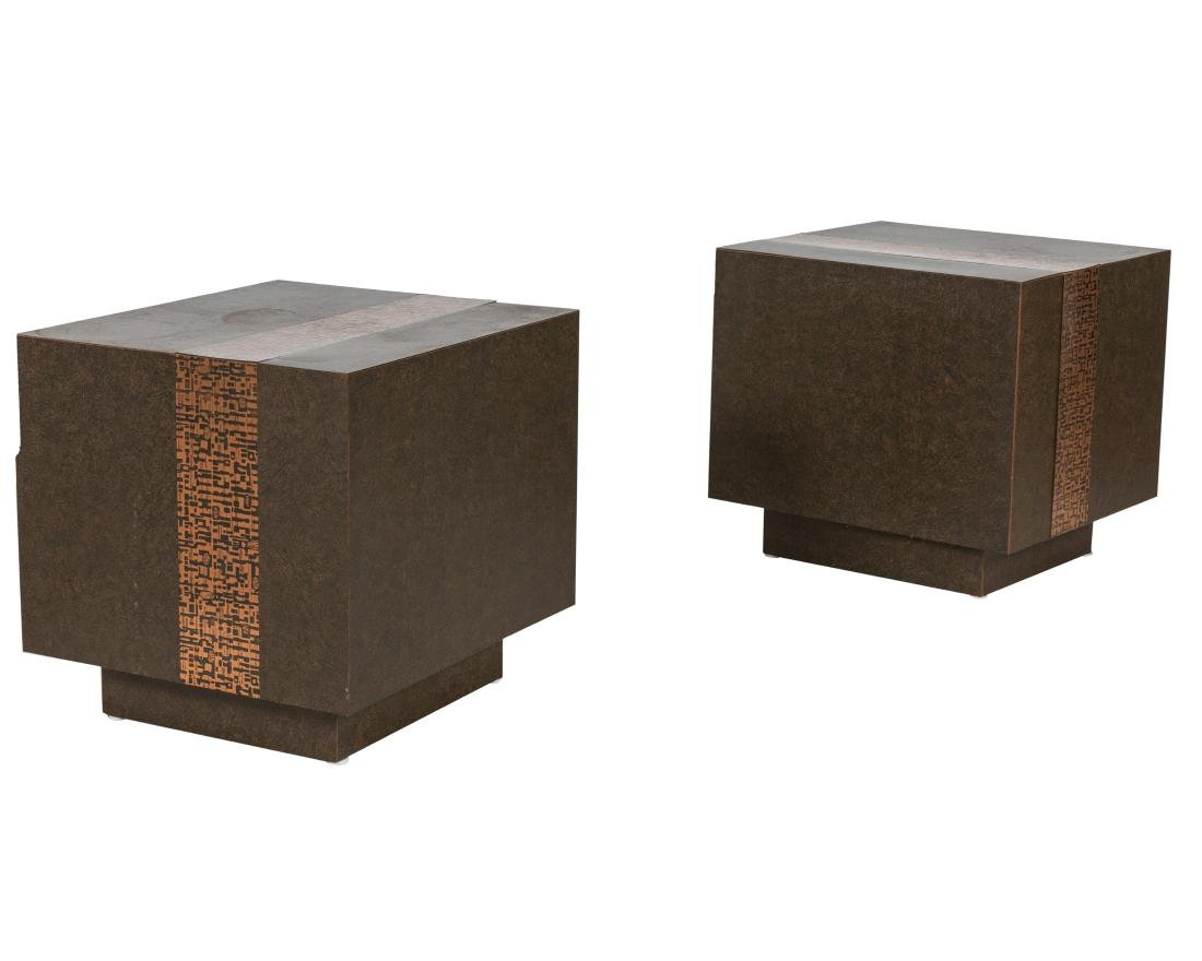 Brutalist Cube Tables - Pair