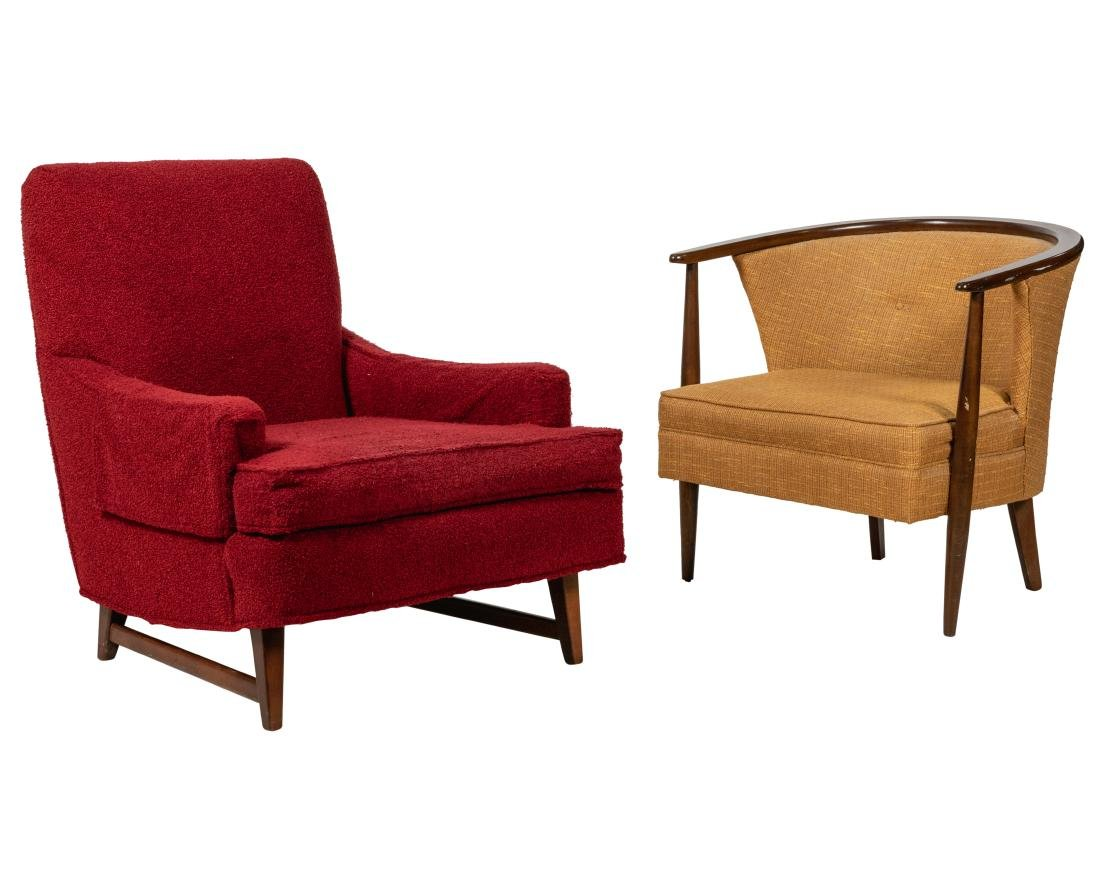 Two Mid Century Lounge Chairs