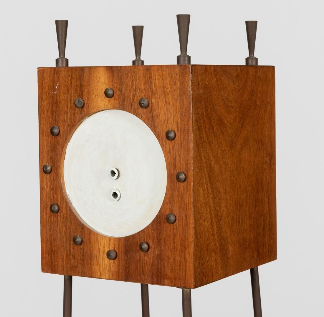 Mid Century Walnut Etagere Clock - 2