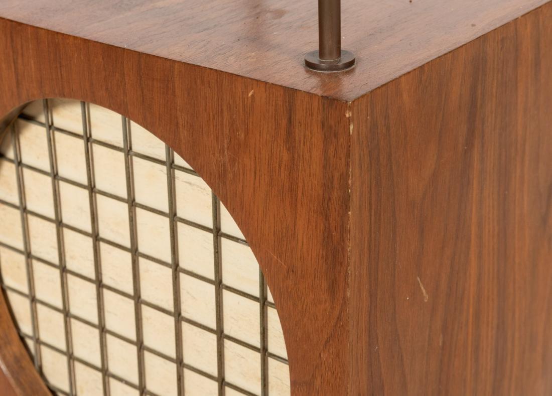 Mid Century Walnut Etagere Clock - 4