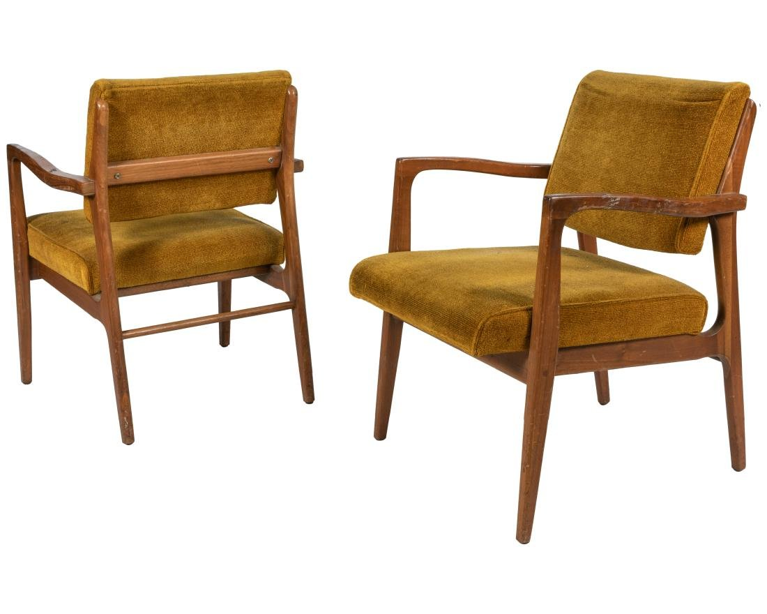 High Point - Pair Walnut Arm Chairs
