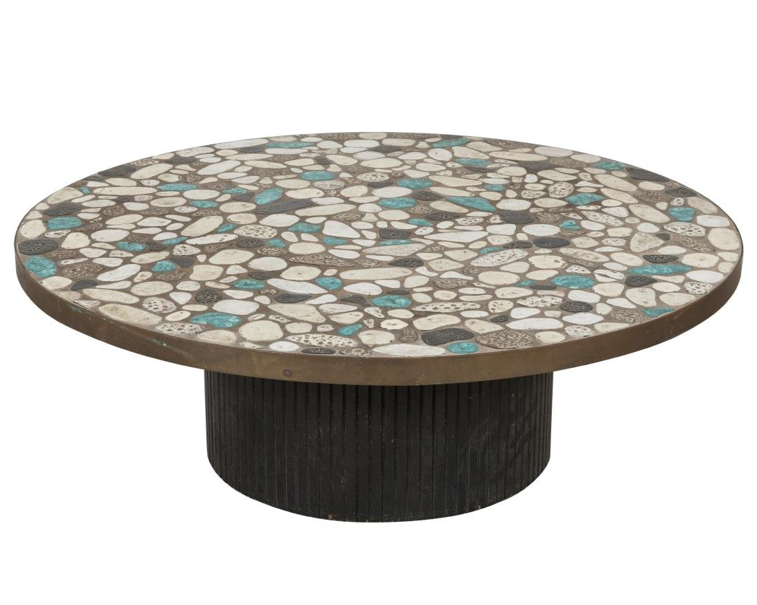 Tile Top Round Coffee Table