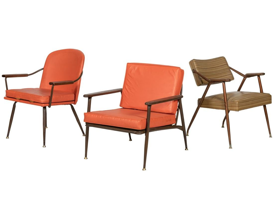 Three Paddle Arm Chairs