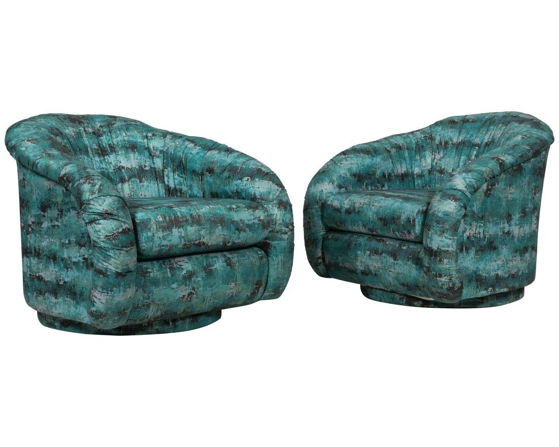 Swivel Tub Chairs - Pair