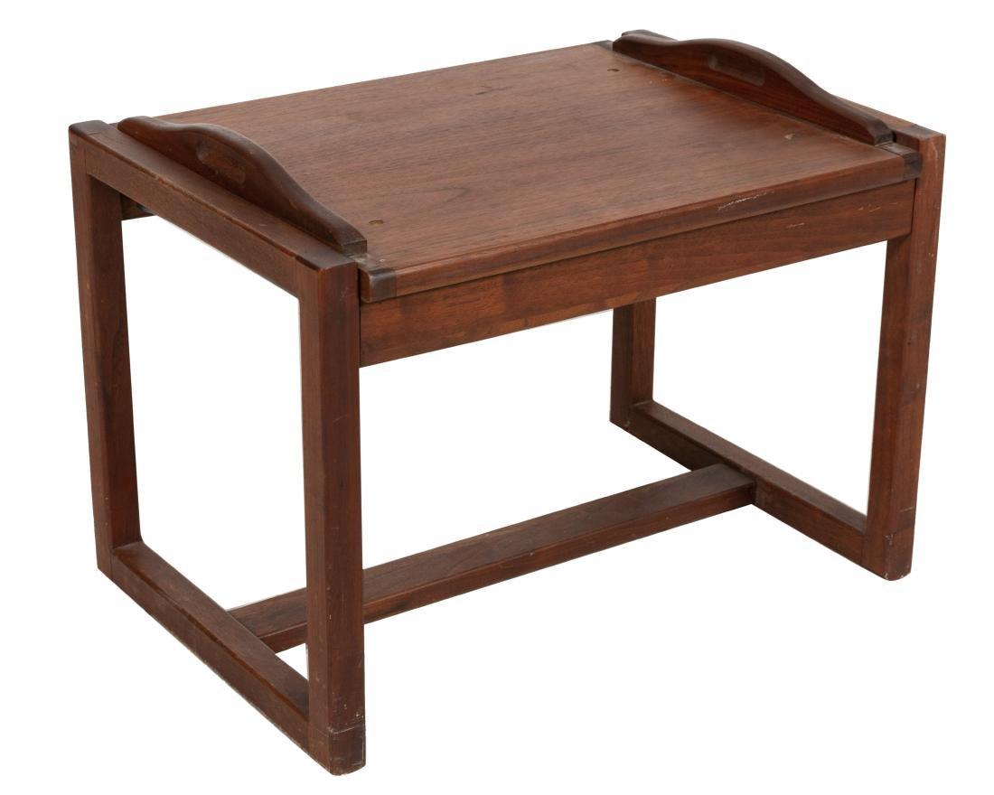 Convertible Walnut Tray Table - 2