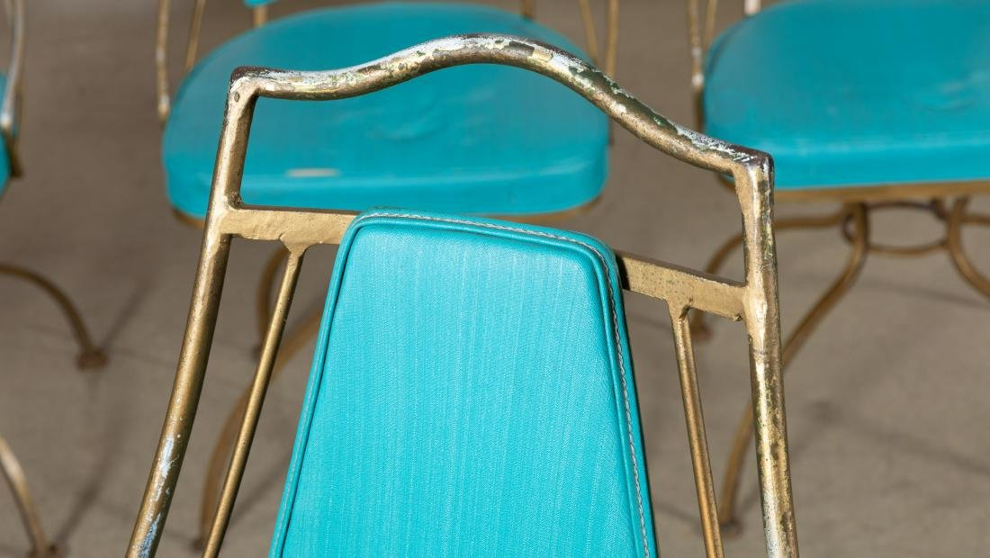 Iron Atomic Swivel Cafe Chairs - Four - 2