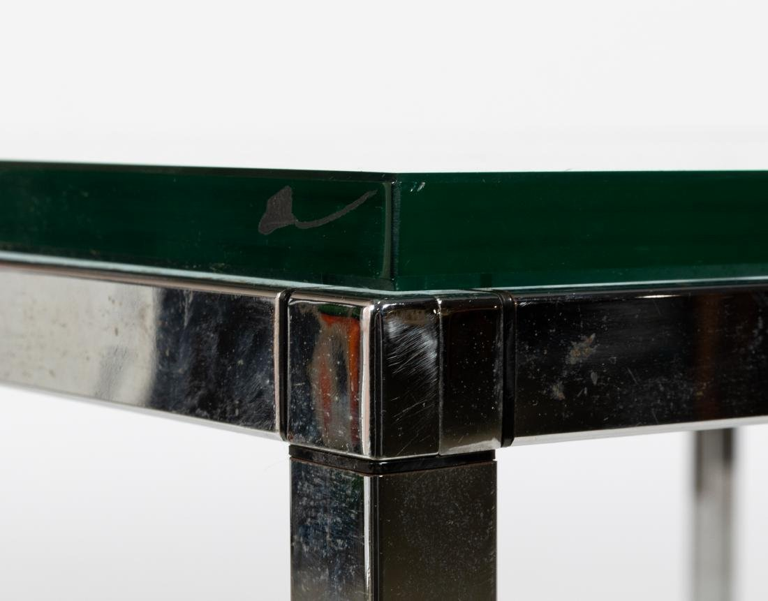 Chrome and Glass Coffee Table - 2