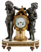 French Empire Figural Mantle Clock