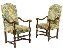 Continental Style Arm Chairs
