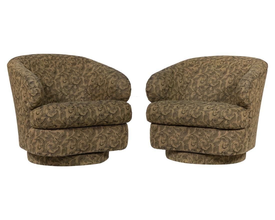 Bernhardt Swivel Lounge Chairs