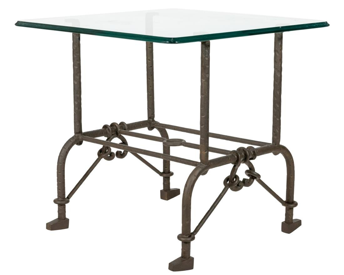 Giacometti Style Steel Side Table