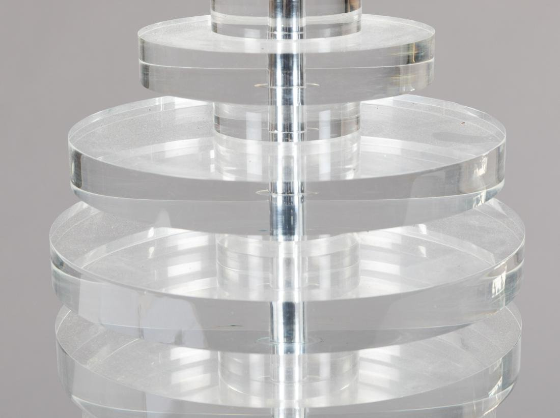 Two Stacked Lucite Lamps - 2