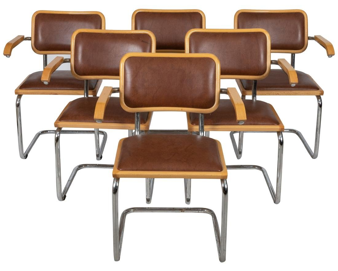 Bruer Style Chrome Chairs - 6