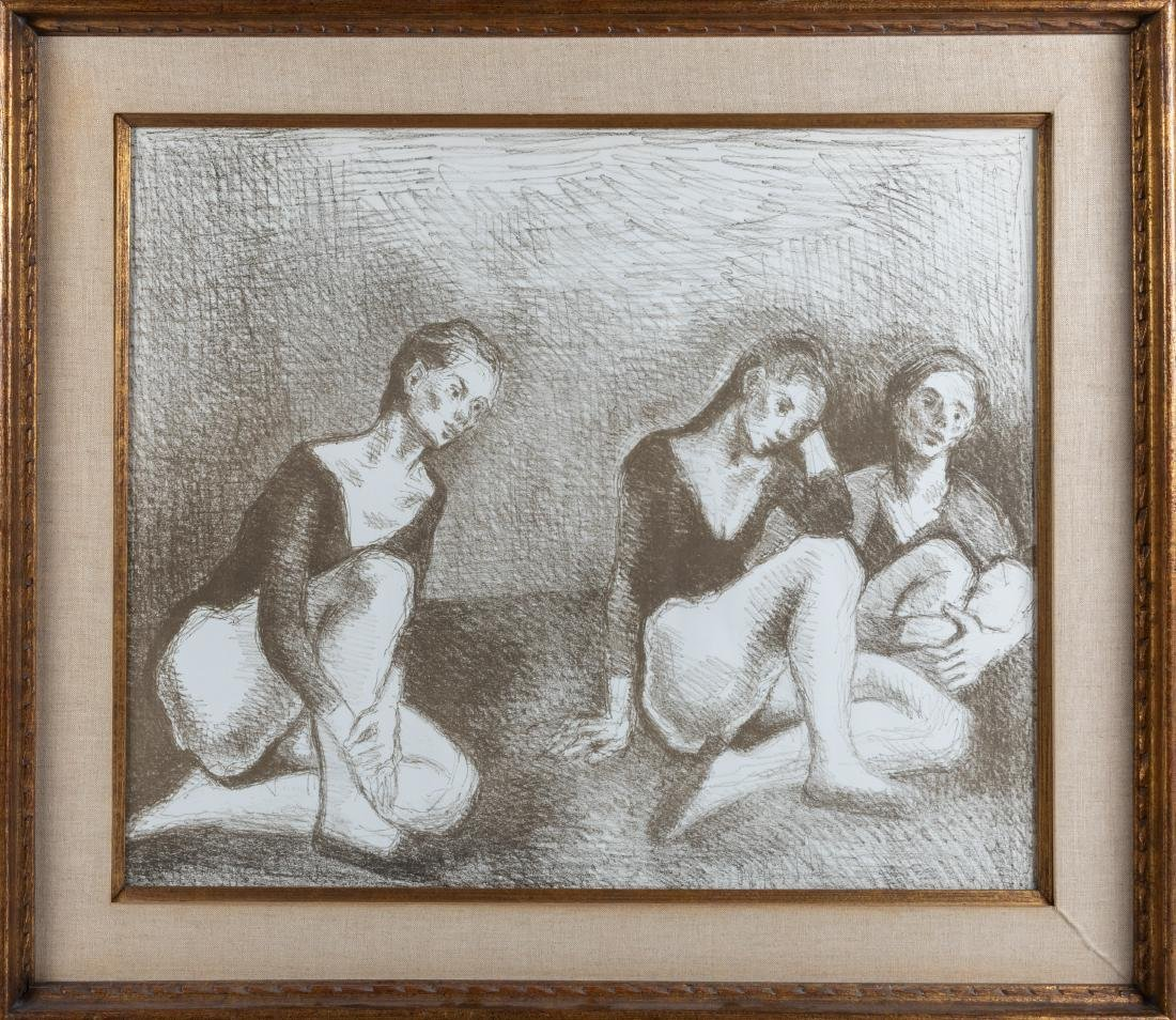 Moses Soyer - Lithograph