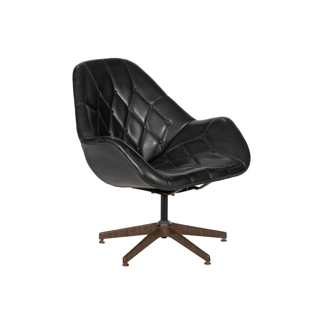 Mid Century Tufted Swivel Chair