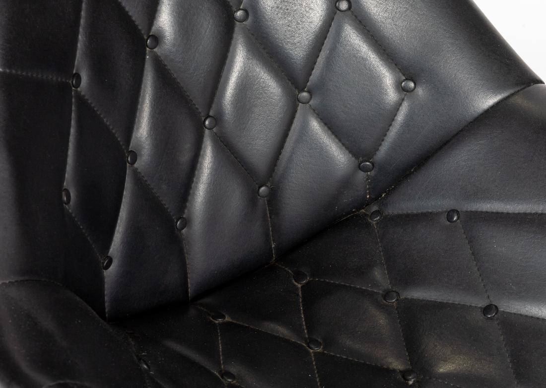 Mid Century Tufted Swivel Chair - 2