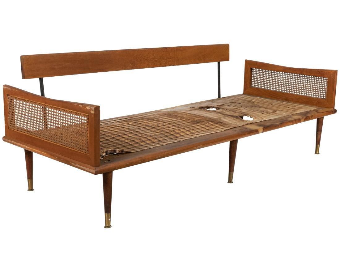 Mid Century Cane Arm Sofa