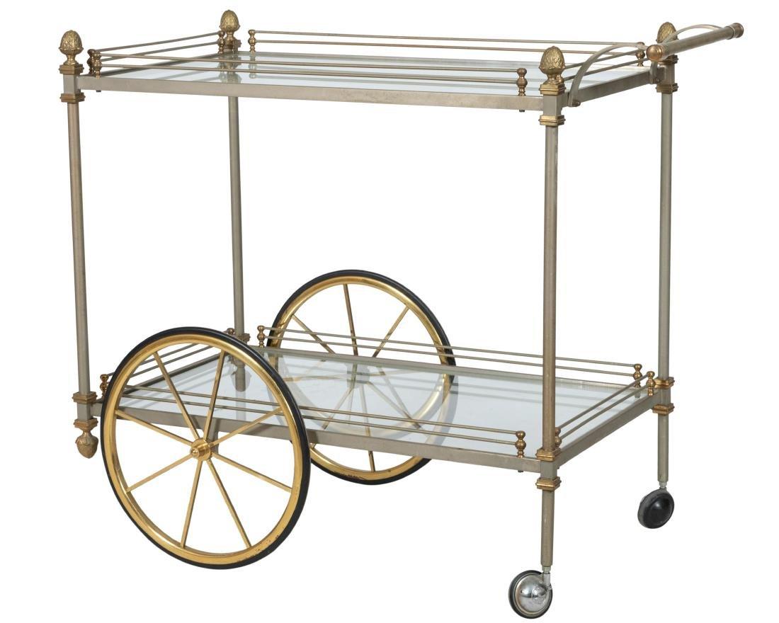 Steel and Brass Tea Cart