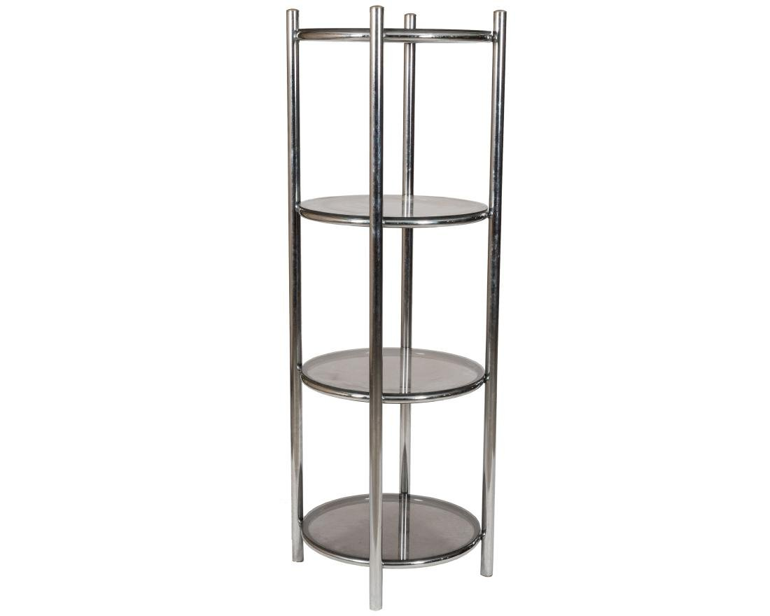 Chrome Round Etagere