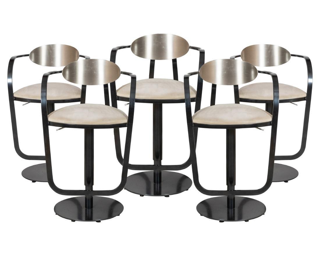 Set of 5 Steel Stools