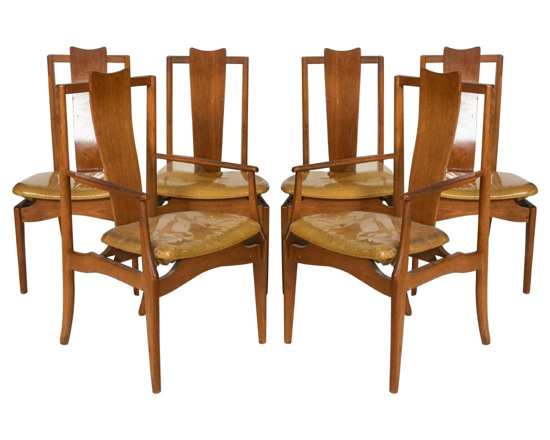 Walnut Dining Chairs - 6