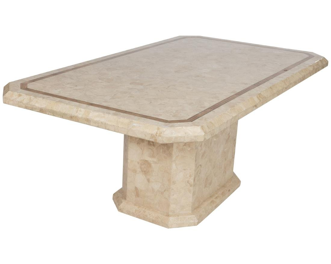 Tessellated Marble Pedestal Dining Table