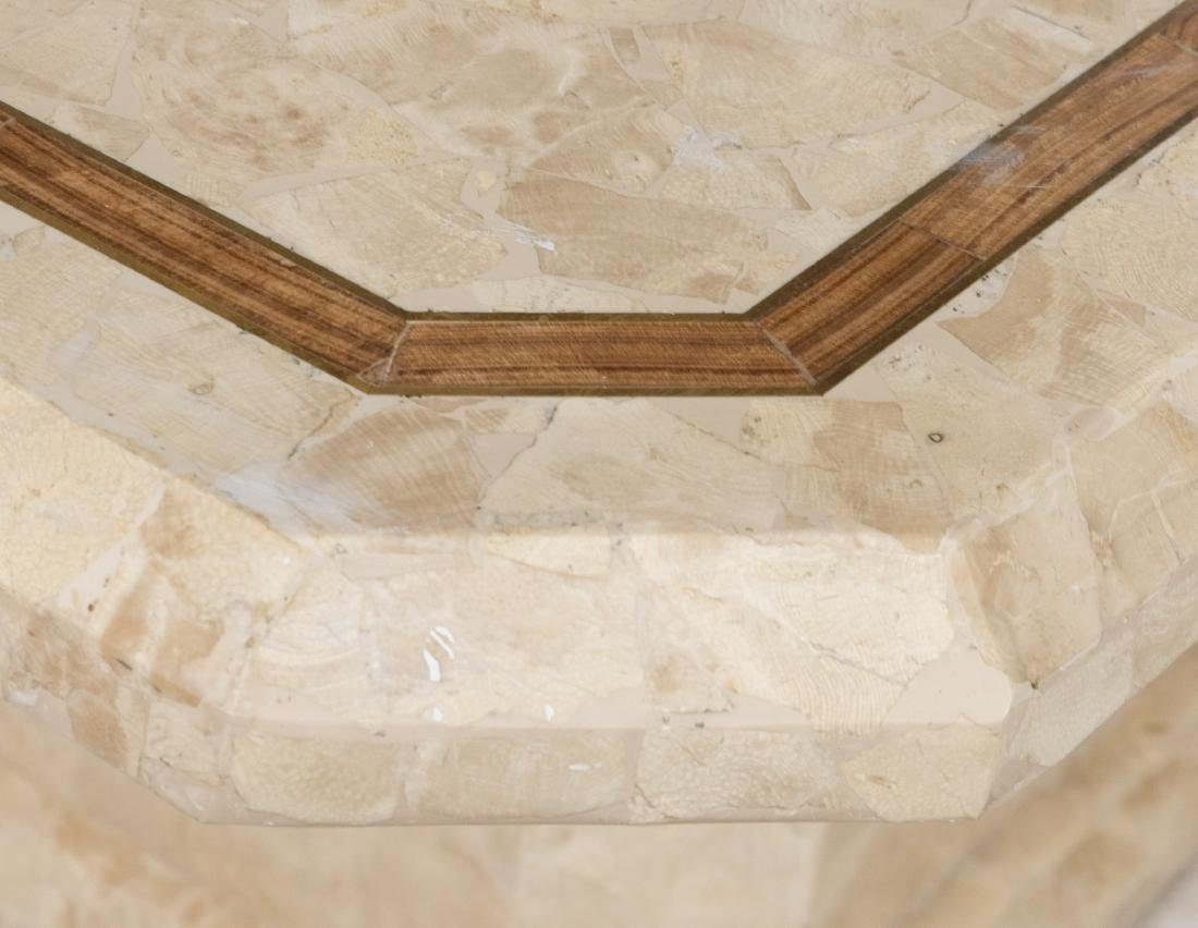Tessellated Marble Pedestal Dining Table - 2