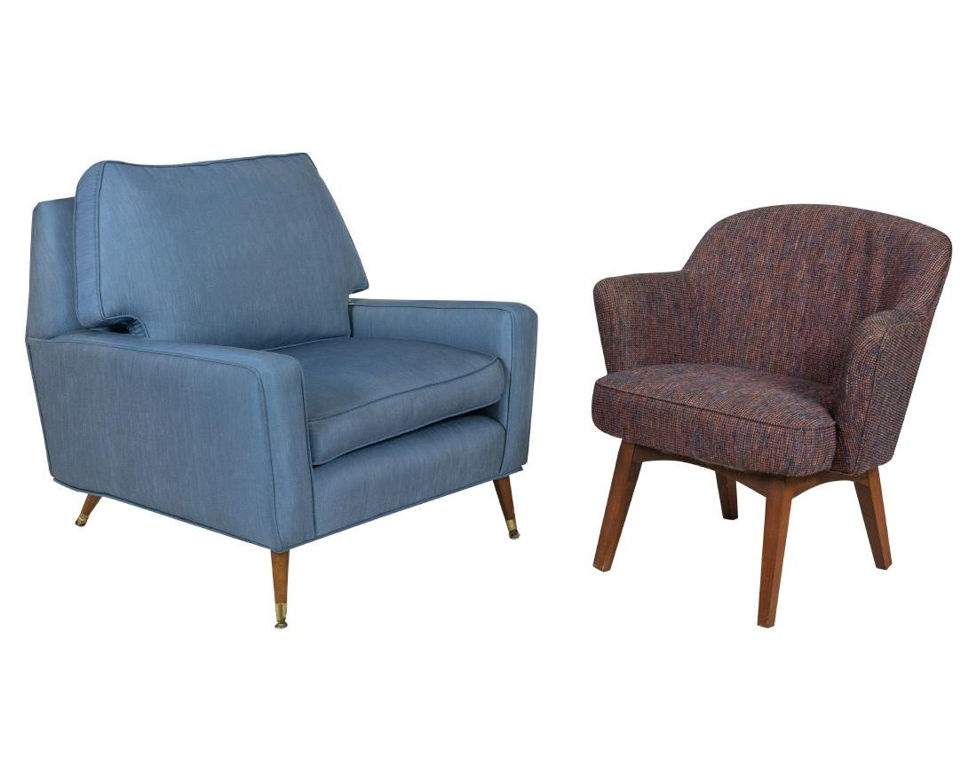 Two Mid Century Club Chairs