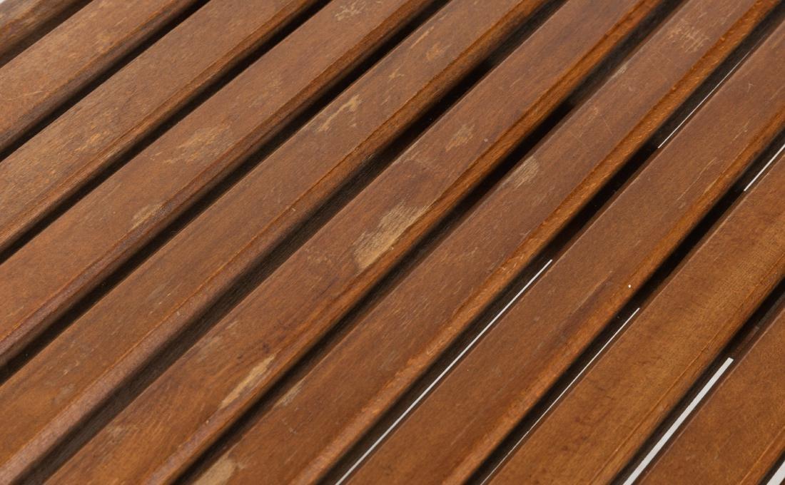 Walnut Slatted Bench - 2