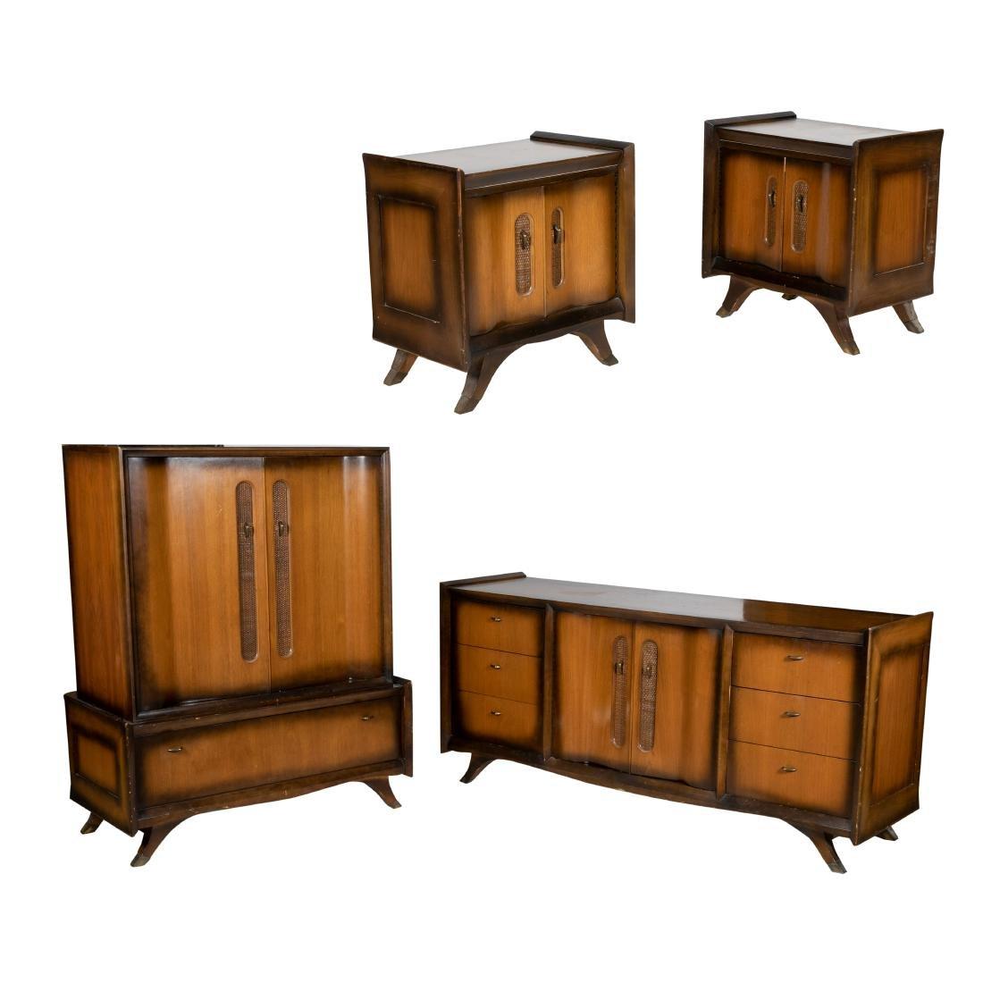 Mid Century Bedroom Set - 4 Piece Set