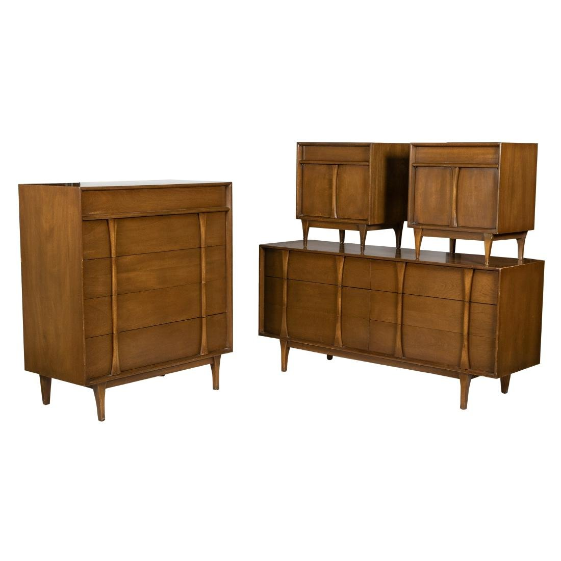 Mid Century Bedroom Set - 4 Piece