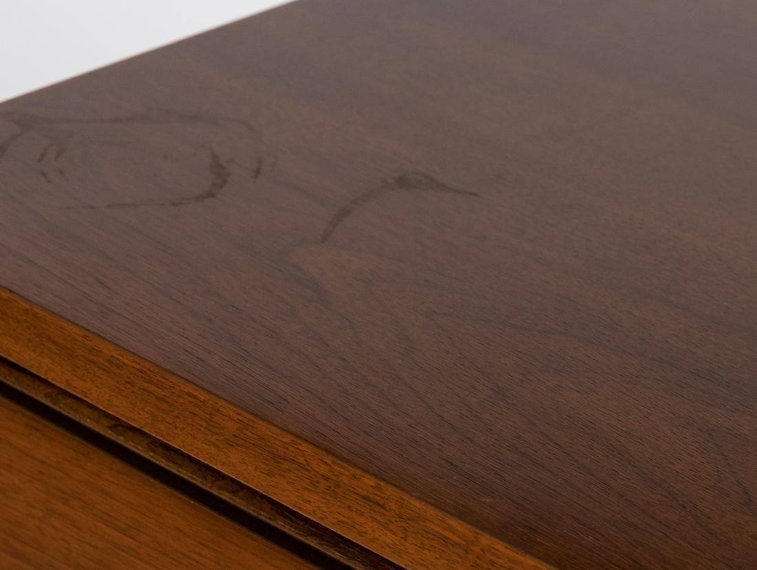 Walnut High Chest Dresser - 3
