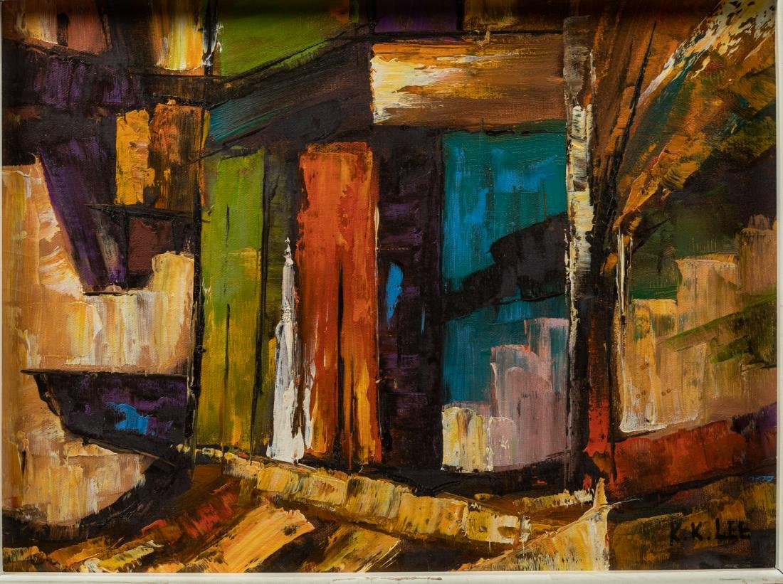 K. K. Lee - Modern Abstract Oil on Canvas - 2