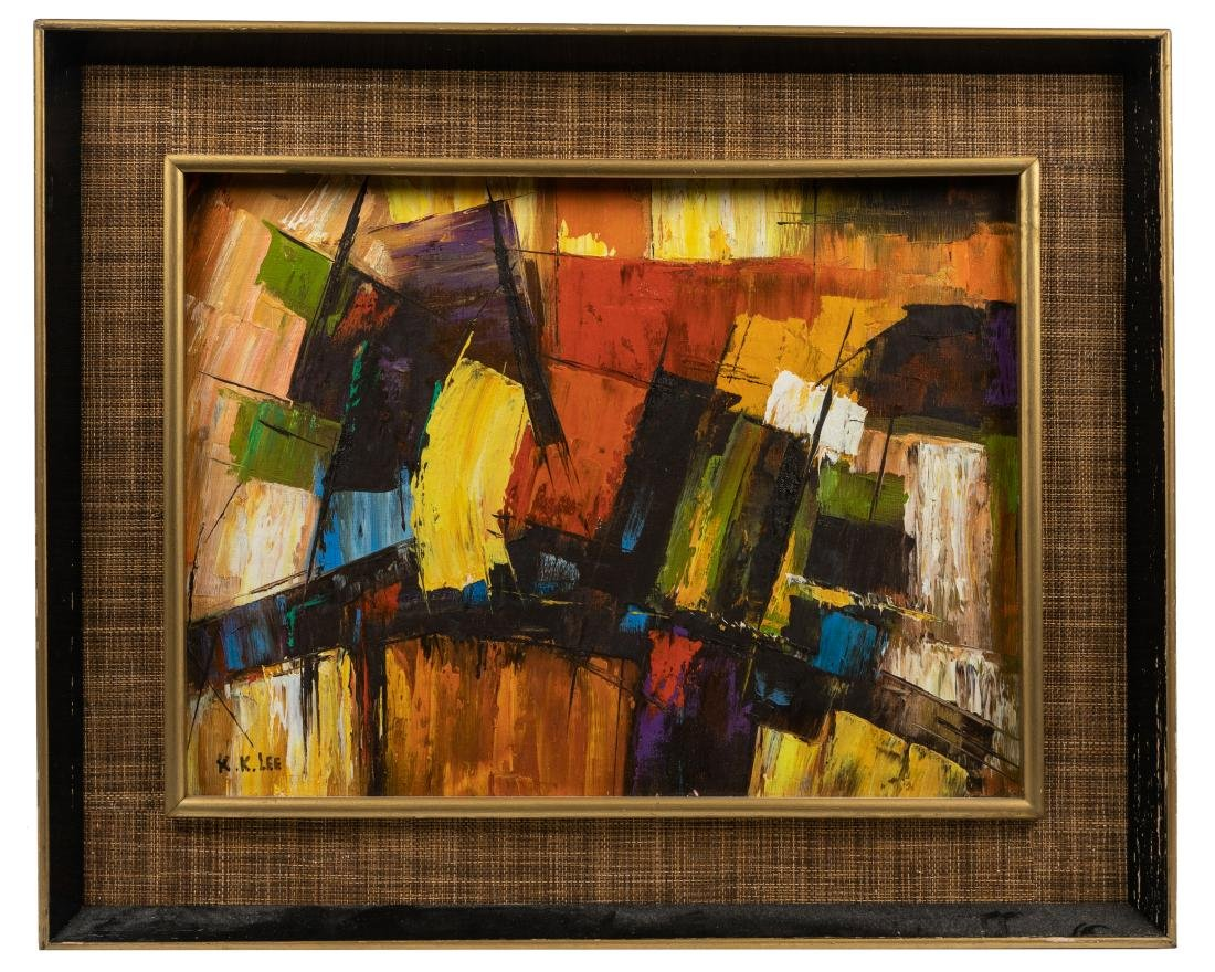 K. K. Lee - Modern Abstract Oil on Canvas