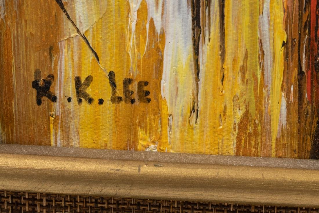 K. K. Lee - Modern Abstract Oil on Canvas - 3