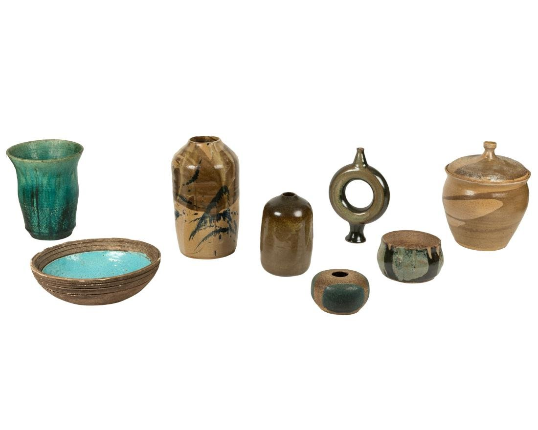 Mid Century Art Pottery Group - Eight Pieces