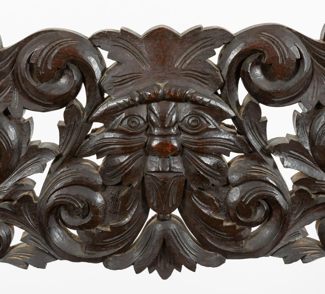Carved Oak Figural Savonarola Chair - 2
