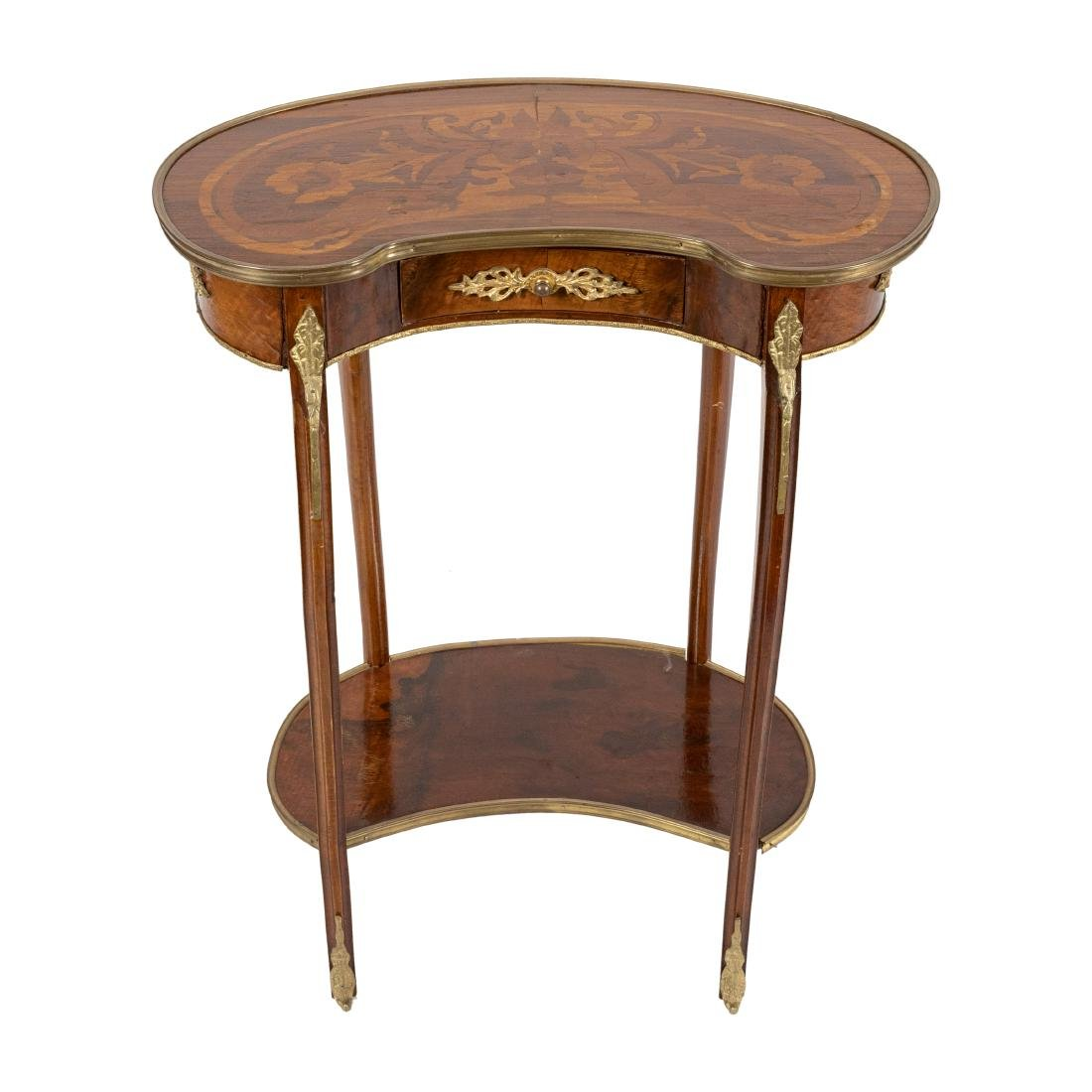 French Style Kidney End Table