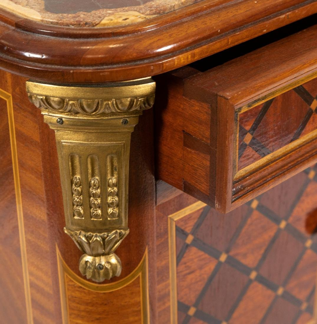 French Marble Top End Table - 2