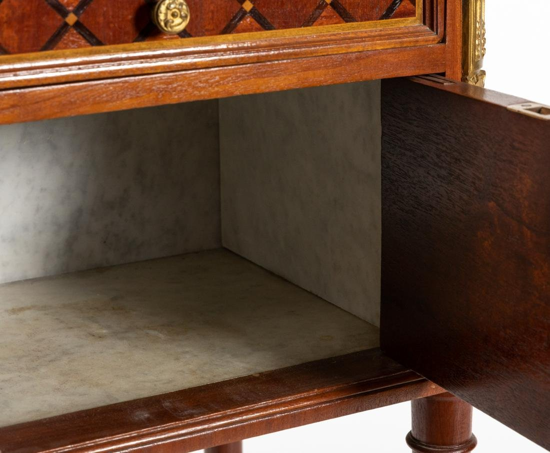 French Marble Top End Table - 3