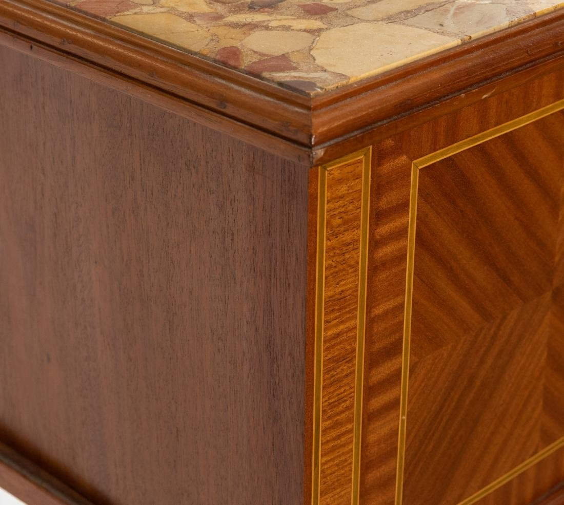 French Marble Top End Table - 4