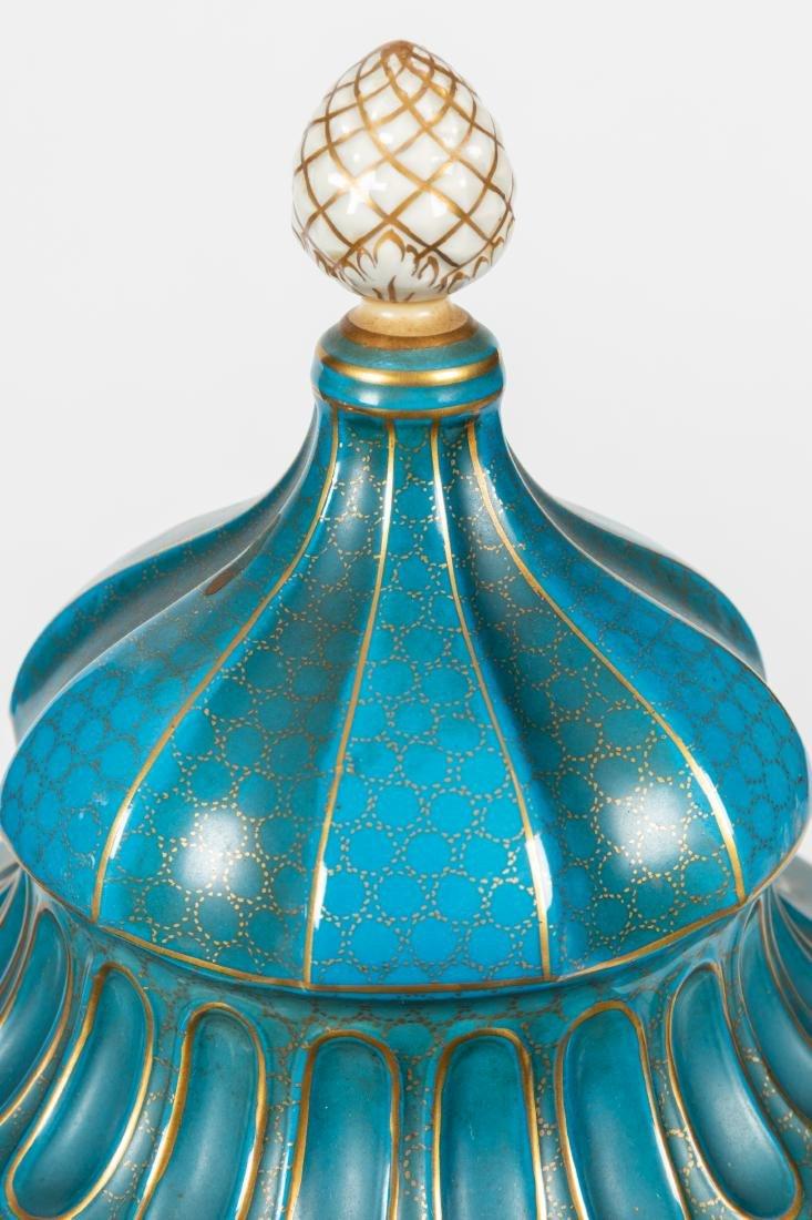 Dresden Porcelain Covered Urns - 5