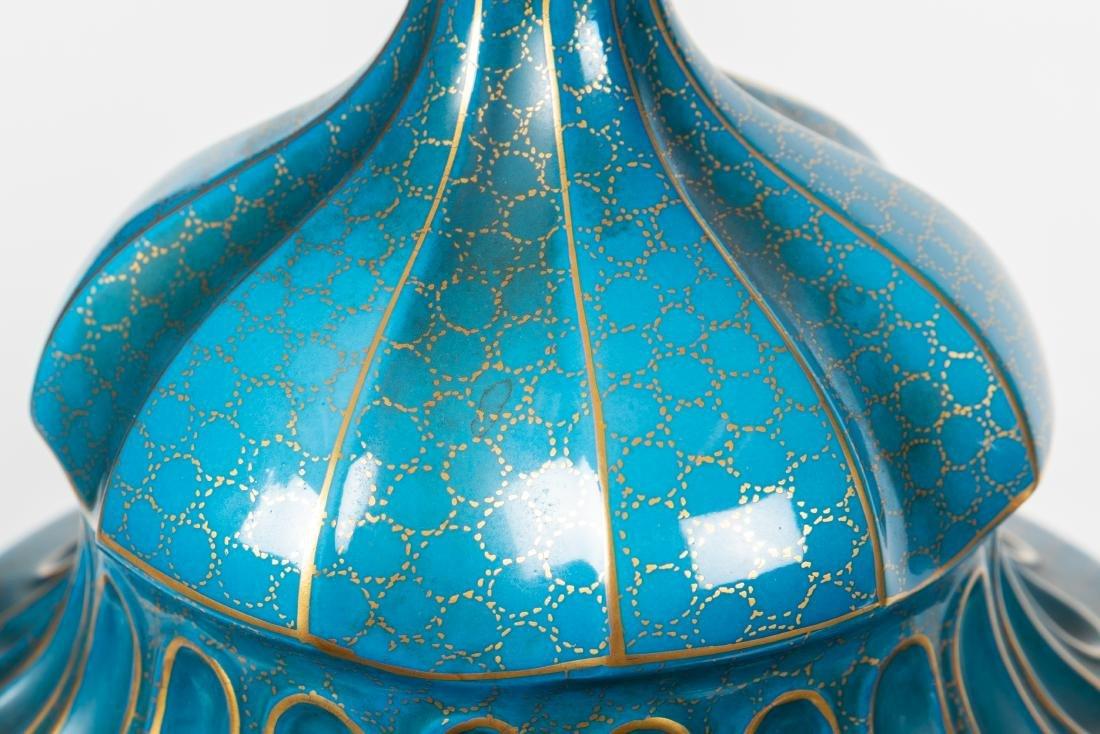Dresden Porcelain Covered Urns - 6