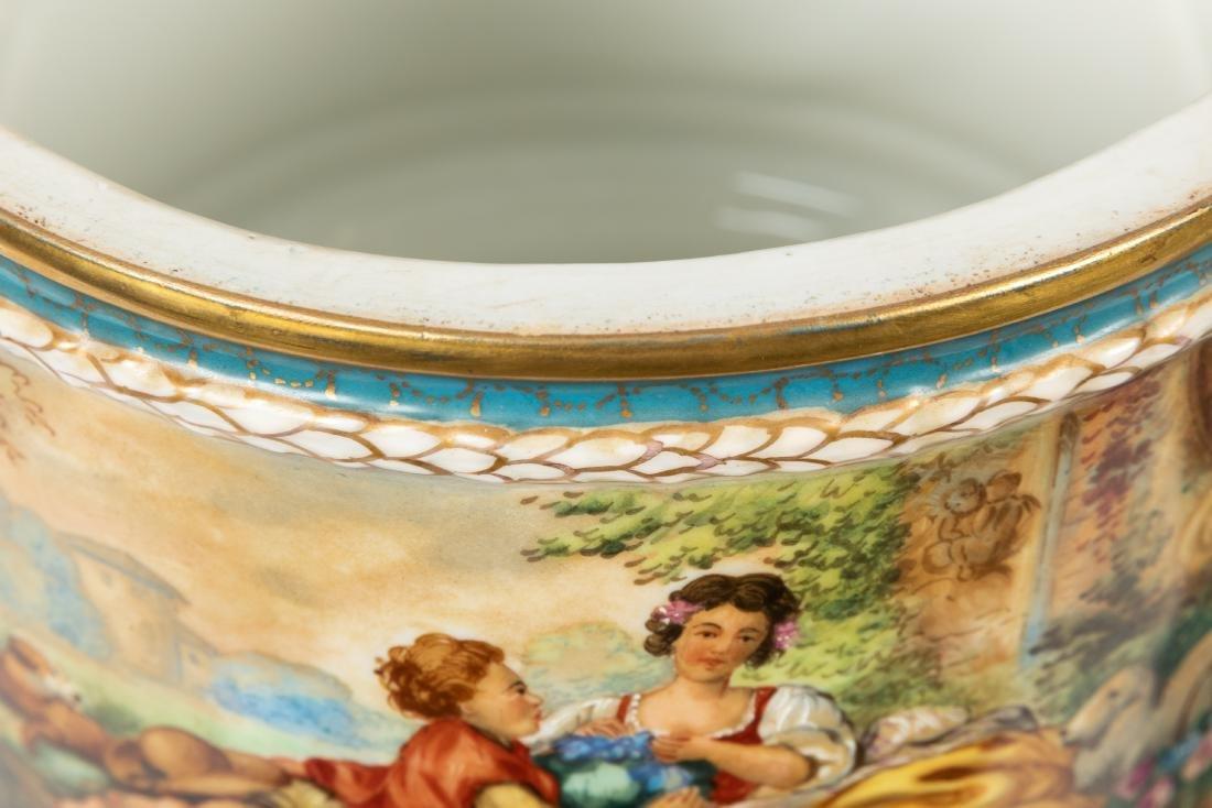 Dresden Porcelain Covered Urns - 8