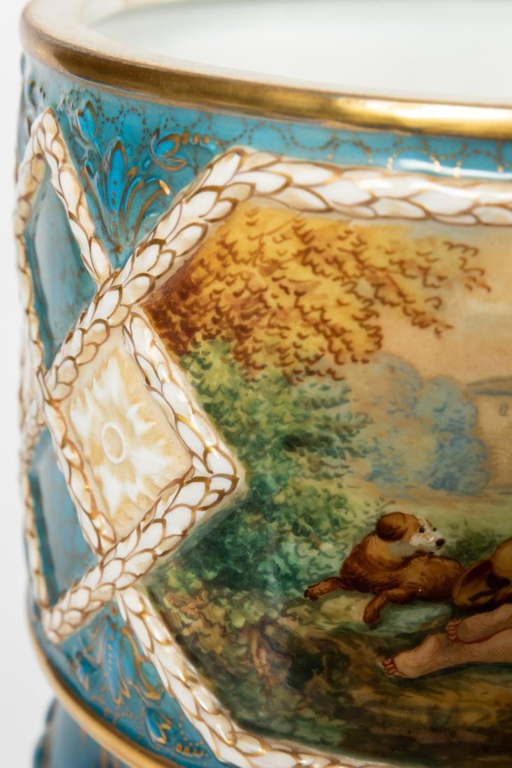 Dresden Porcelain Covered Urns - 9